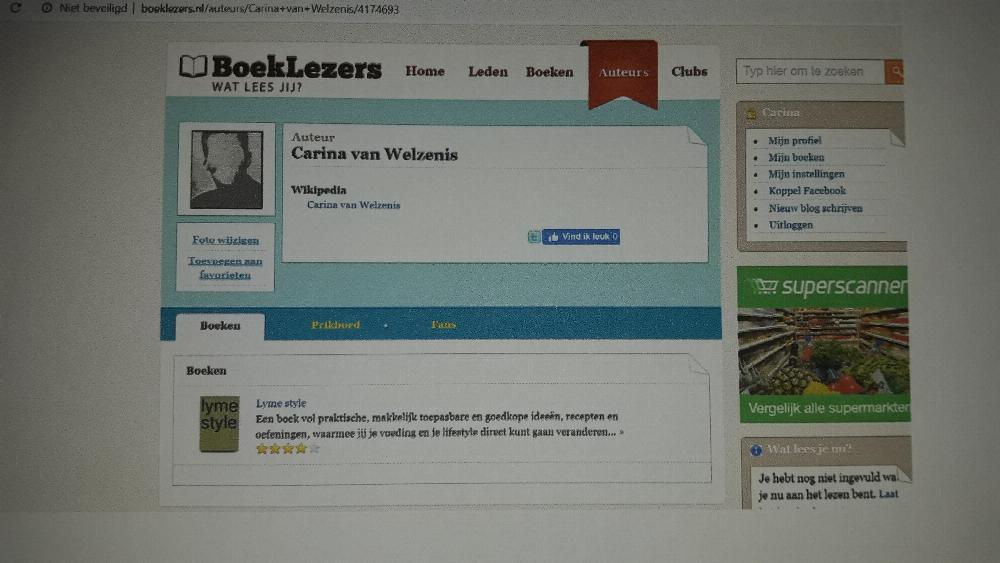 boeklezers.nl tipt het boek lyme style bij hun sociale lezers