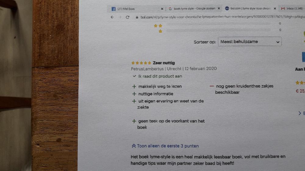 bol.com review over boek lyme style
